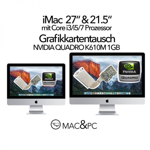 "NVIDIA QUADRO K610M 1GB Grafikkarte Austausch iMac 21,5"" & 27"" 2009-2011 A1312 Grafikkarte EMC 2429"
