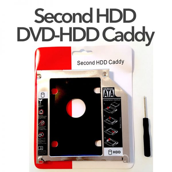 Second HDD-DVD Caddy HDD/SSD Einbaukit Mac iMac 2009-2011