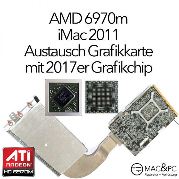 """ATI Radeon HD 6970M iMac 27"""" Mid 2011 A1312 Grafikkarte EMC 2429 661-5969 Ersatzteil Austausch"""