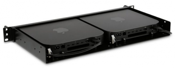 """LMP iRack 2, 19"""" Rack Kit 1U für (2) Mac mini, 2014+2018"""