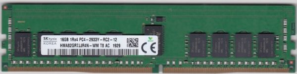 SK HYNIX 16GB DDR4 DIMM PC4-23400, 2933Mhz, ECC reg.